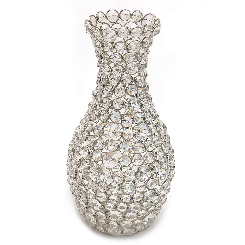 Crystal Silver Flower Vase