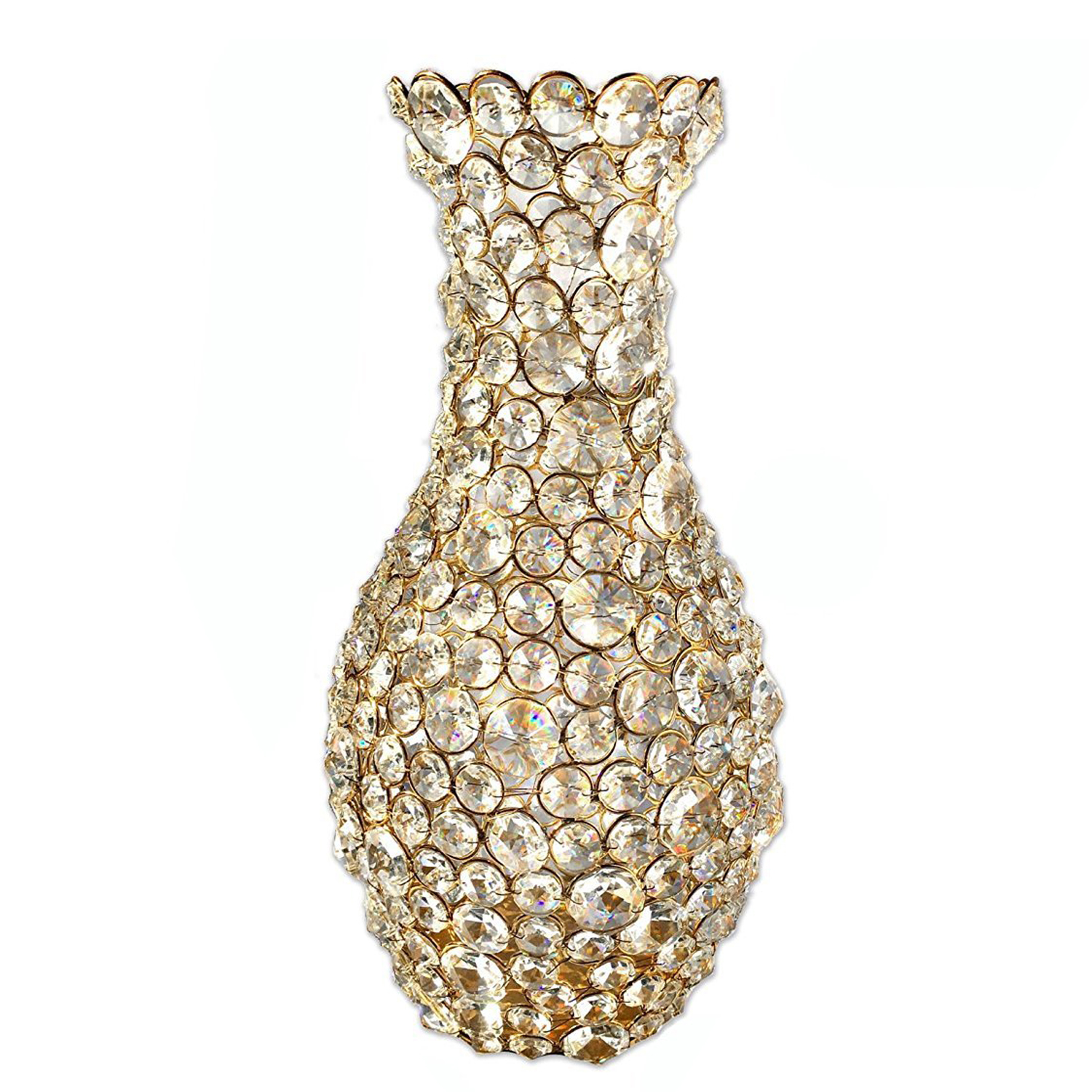 Crystal Gold Flower Vase