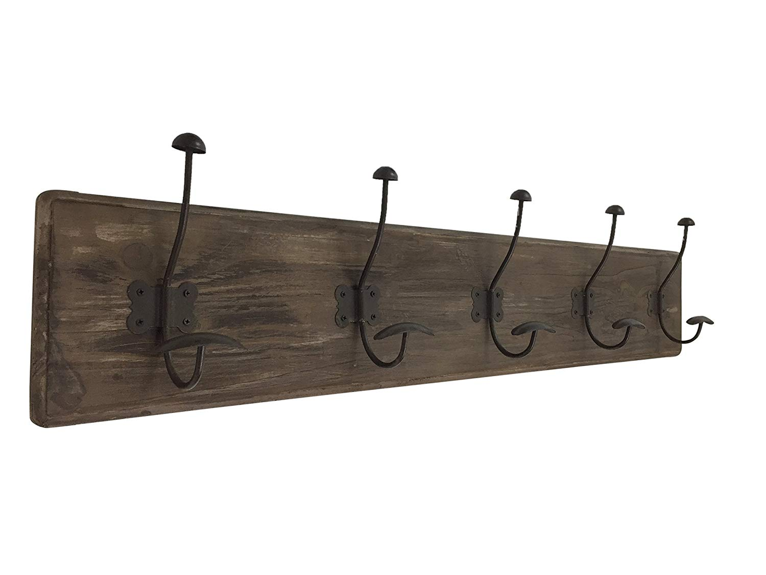 Rustic Coat Rack with Hooks