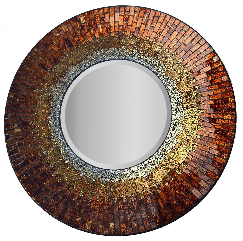 Amber Mosaic Wall Mirror