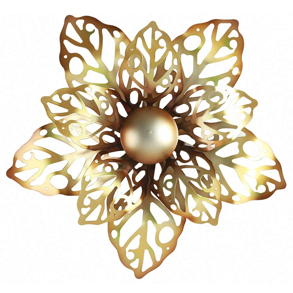 Gold Metal Flower Wall Sculpture