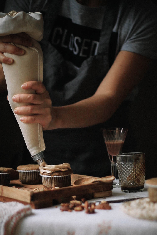 Receita de Muffins de Nozes, Café e Amarula