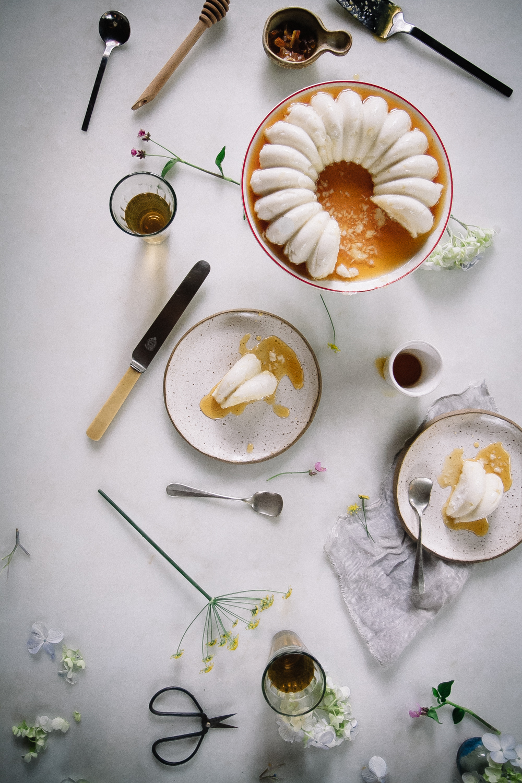 Manjar de Côco com calda de laranja