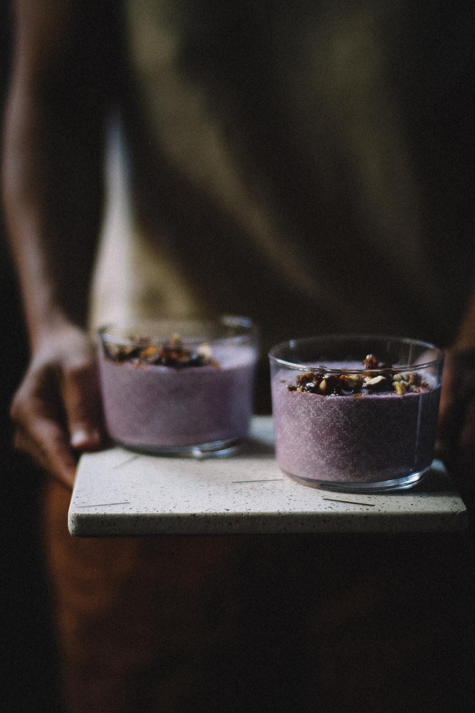 Receita Vegana de Mousse de Batata Doce Roxa