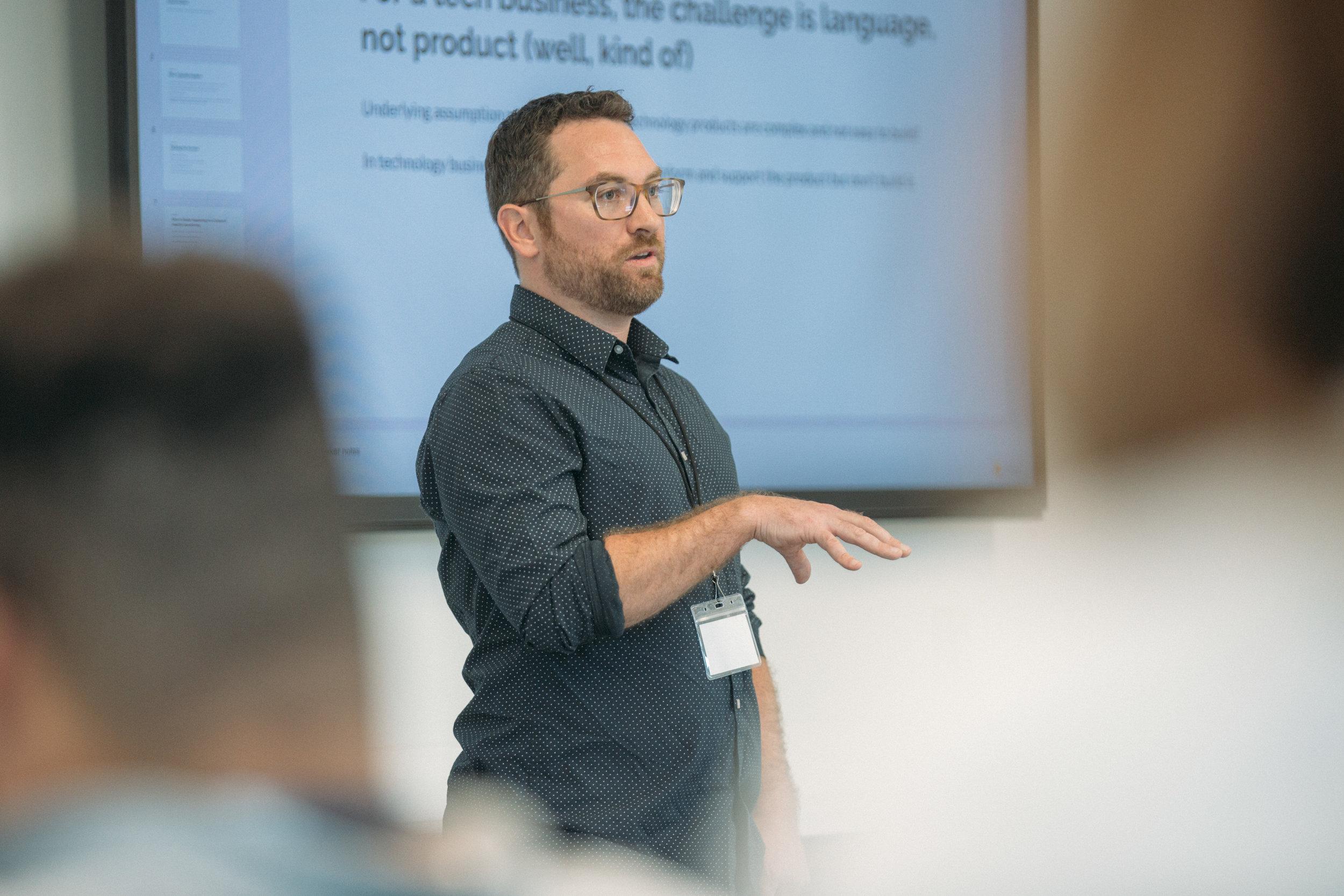 ProductCamp Cincinnati Kevin Mackey Speaking.JPG