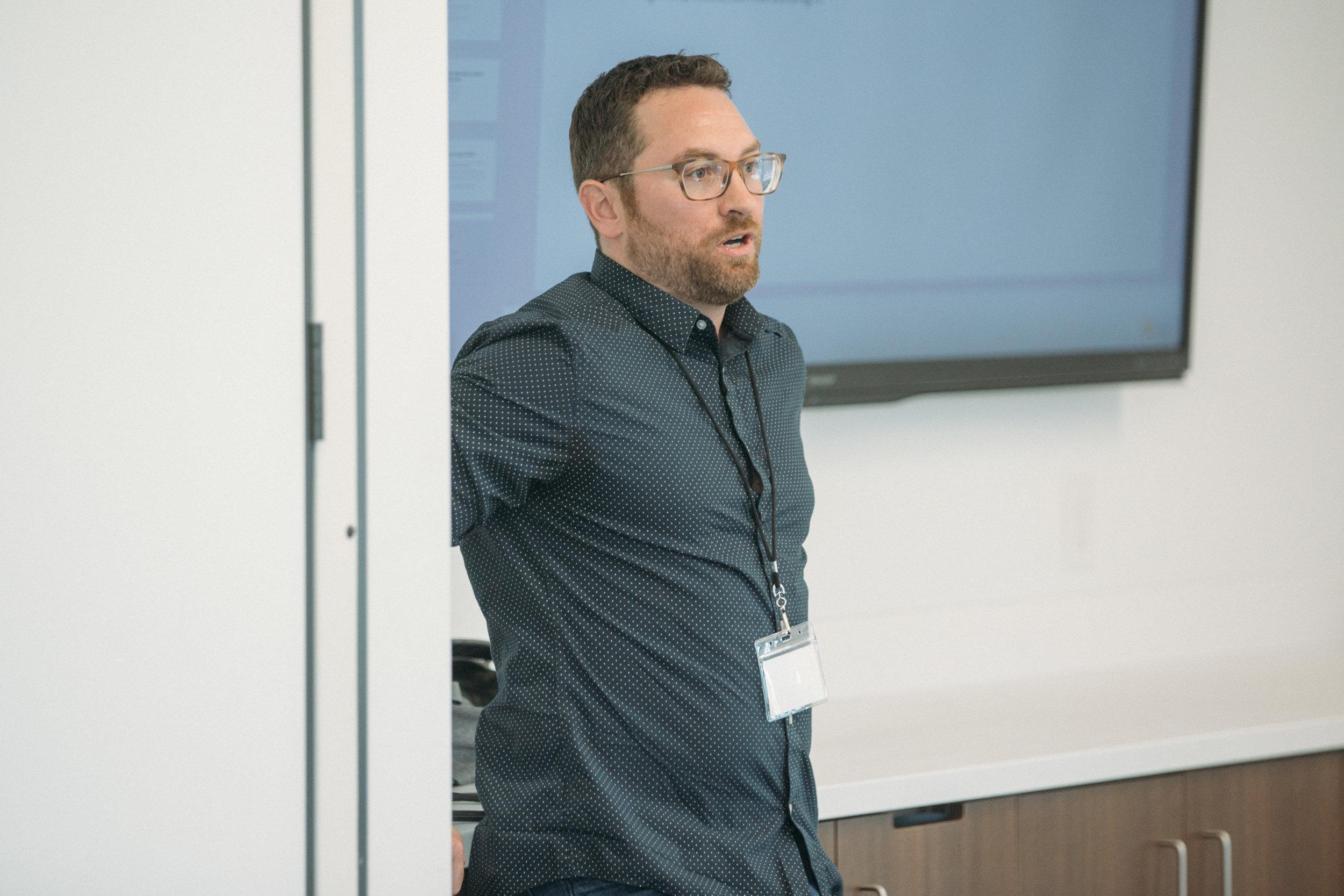 ProductCamp Cincinnati Kevin Mackey Speaking 2.JPG