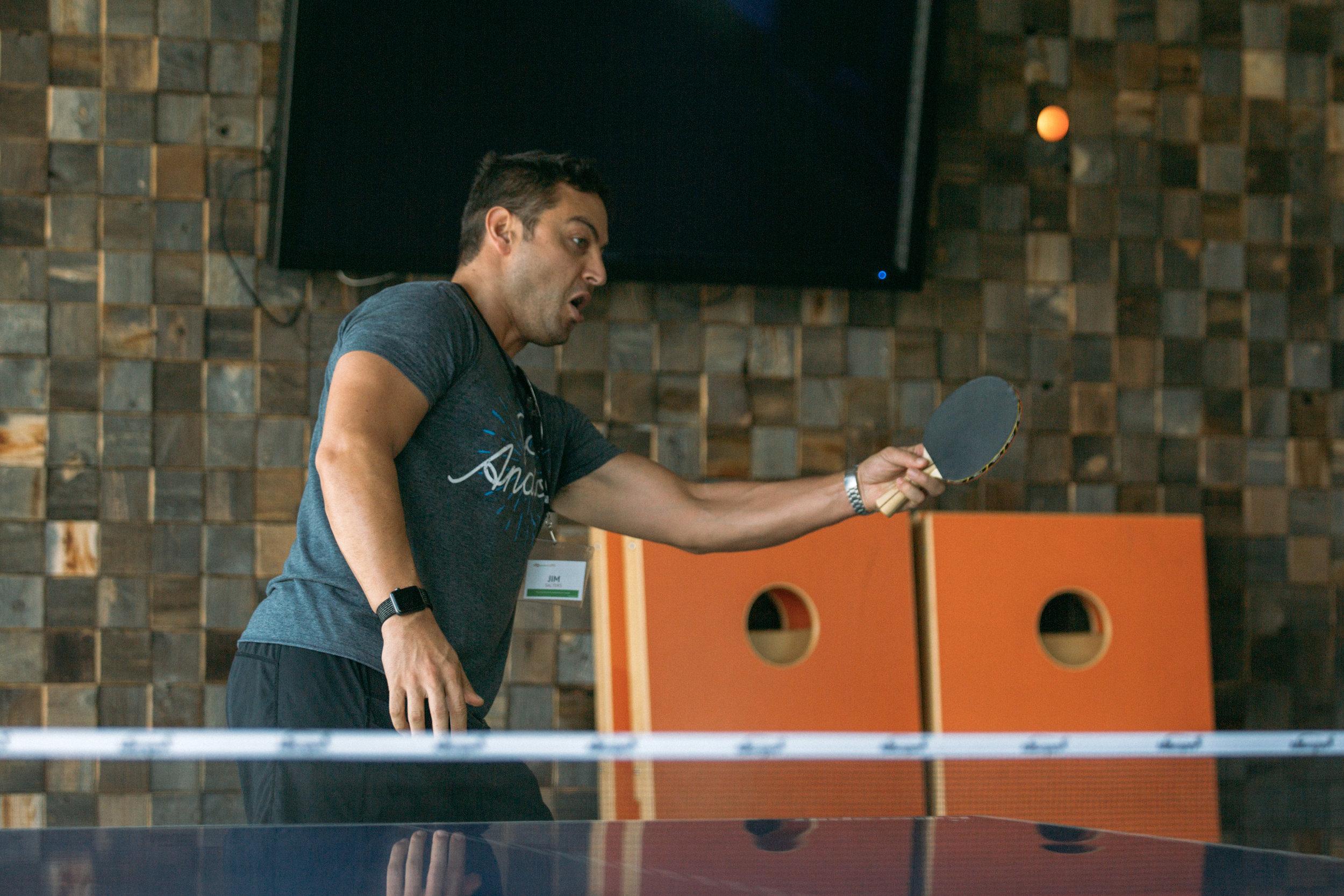 ProductCamp Cincinnati Jim Salters Ping Pong.JPG