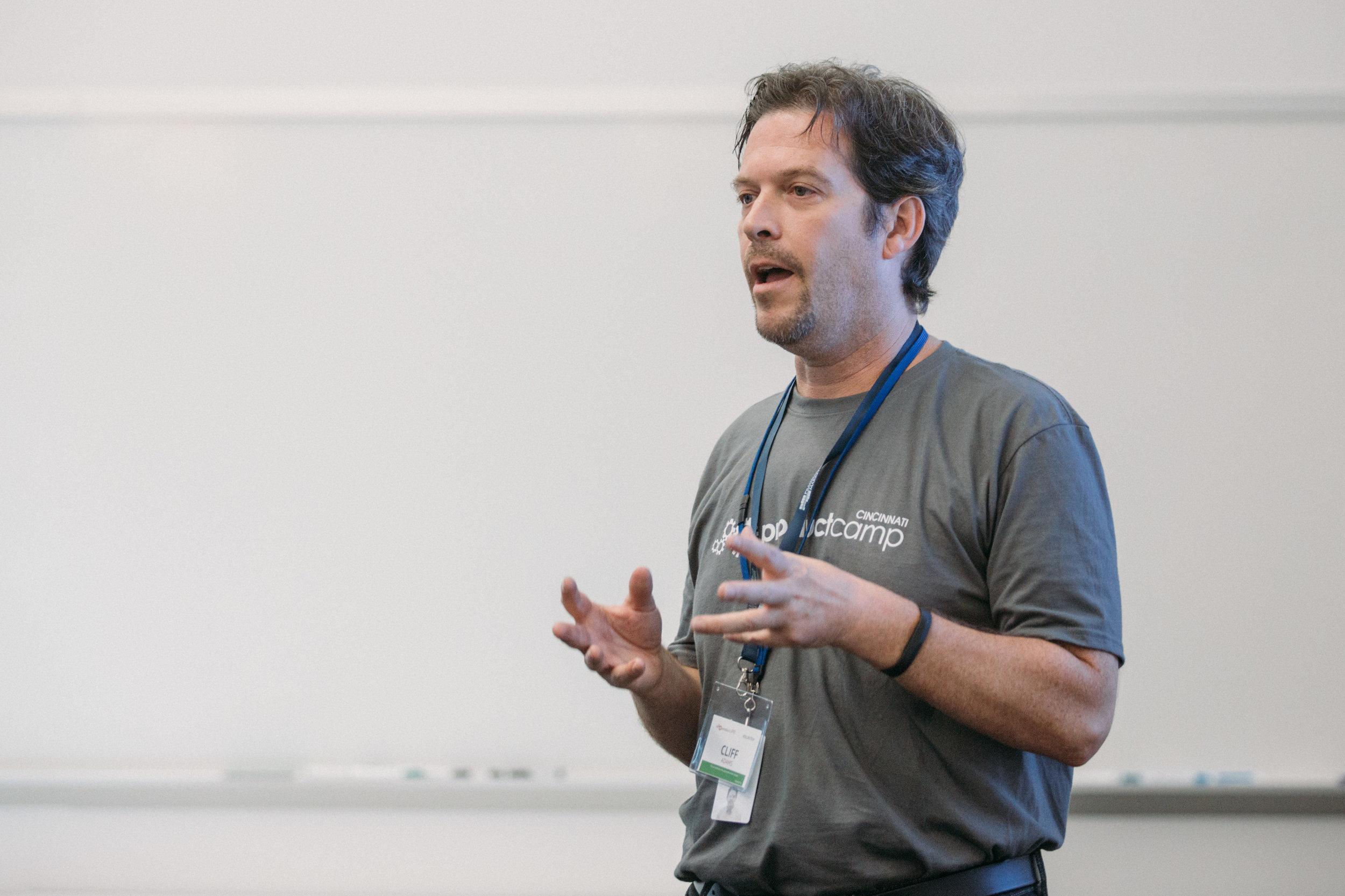 ProductCamp Cincinnati Clifford Adams Speaking.JPG