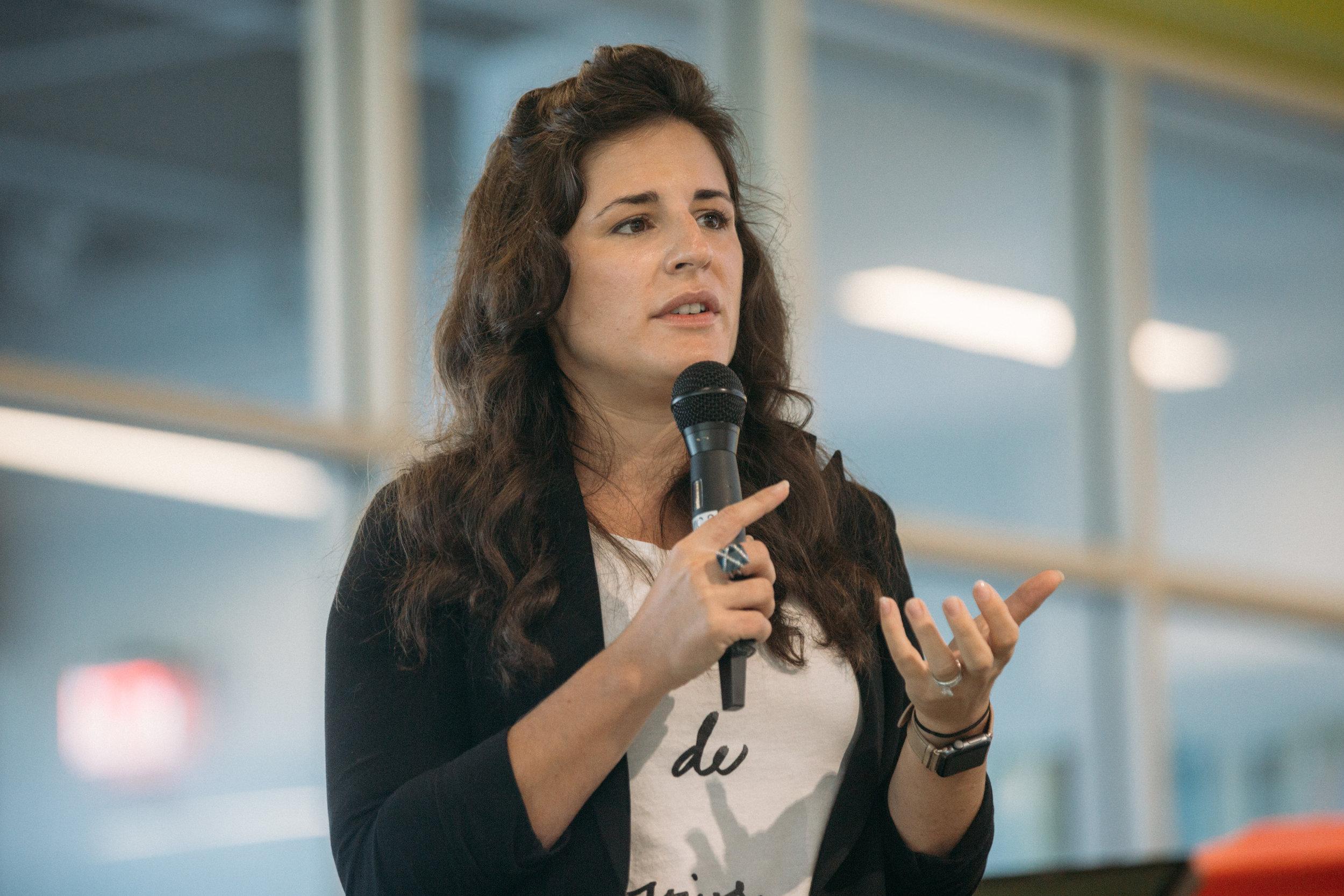 ProductCamp Cincinnati Lydia Henshaw Speaking.JPG