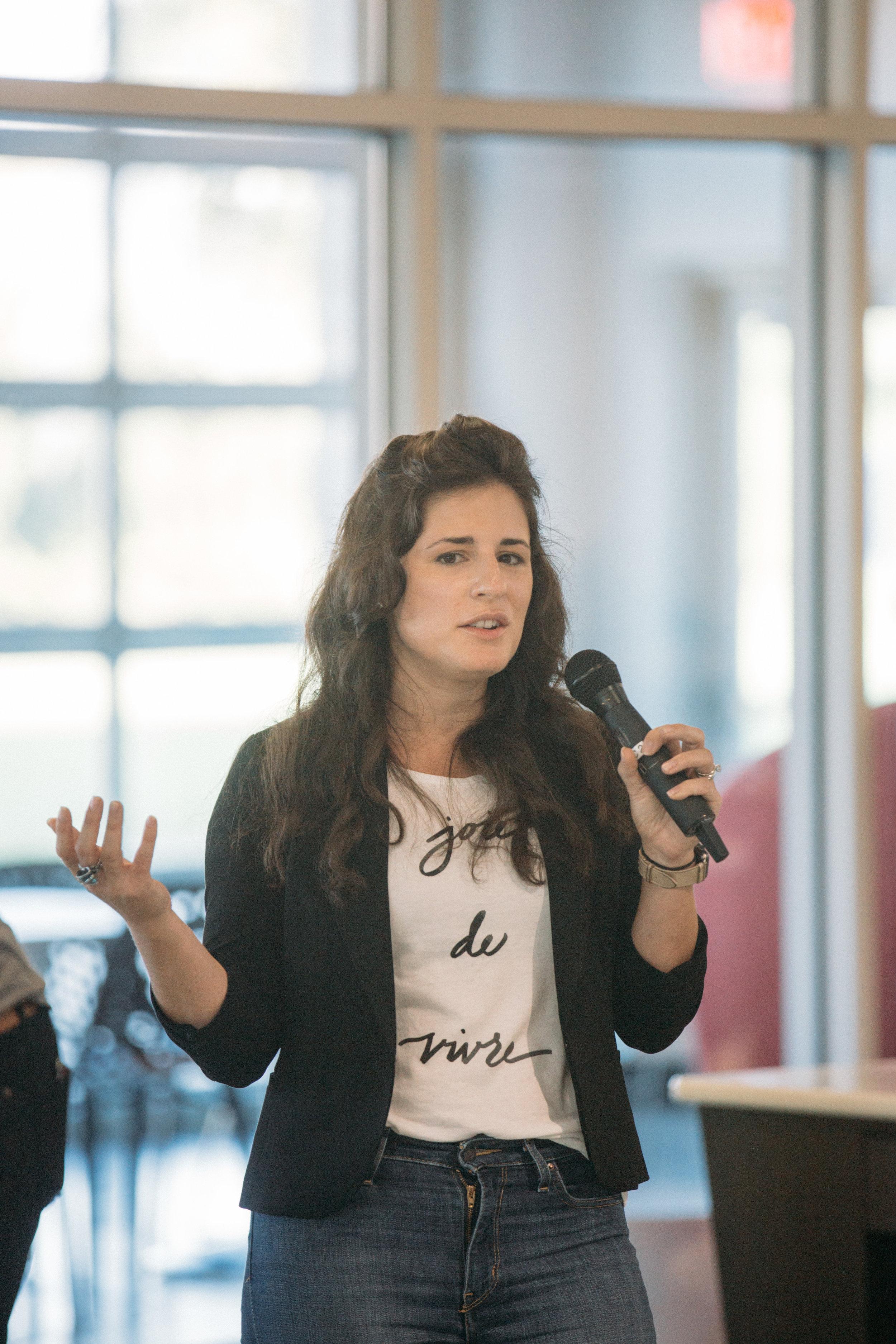 ProductCamp Cincinnati Lydia Henshaw Speaking 2.JPG
