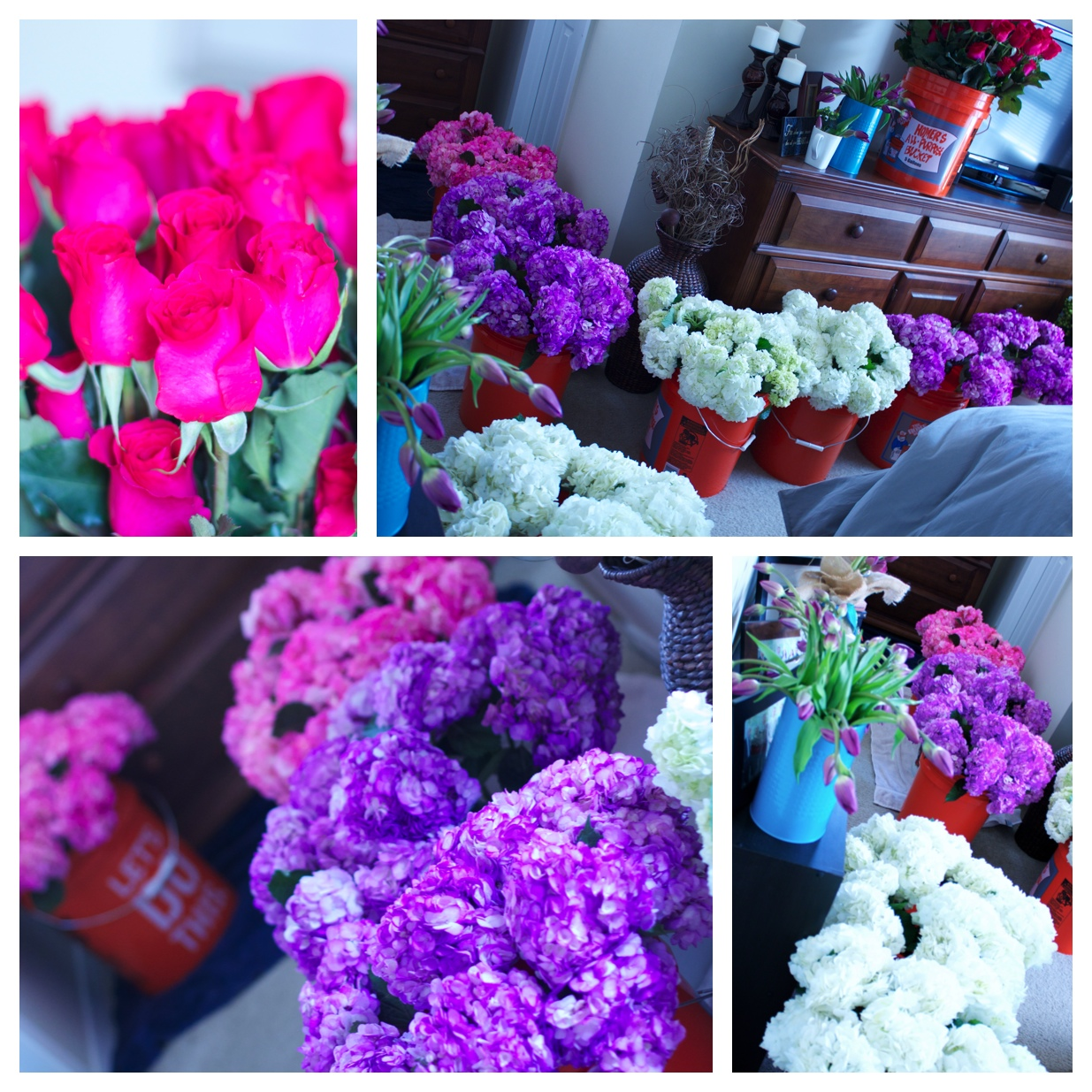 Oh my word our tiny apartment was busting with flowers! (did I mention my hubby's allergic? oops!)