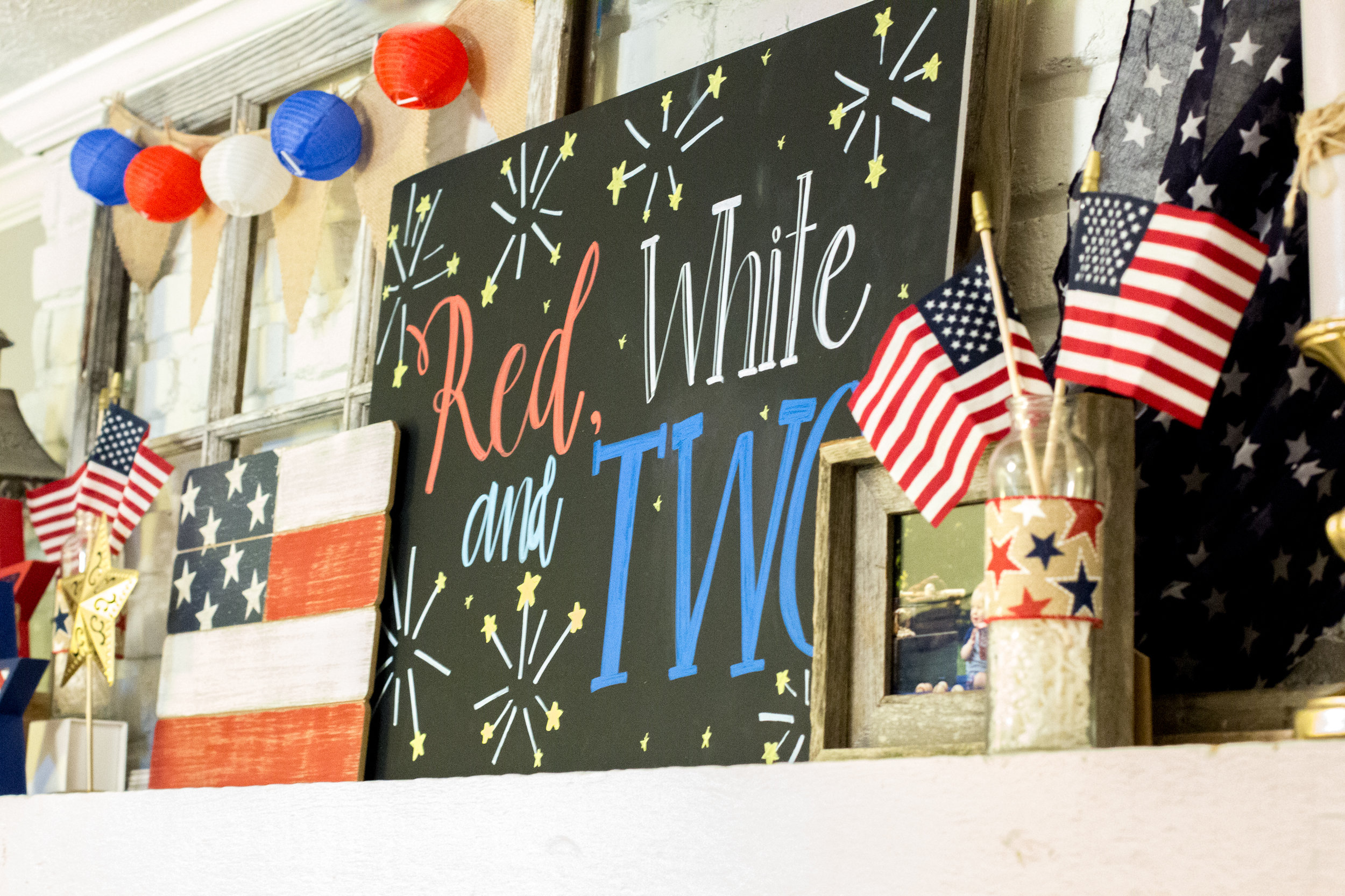 red-white-and-two-sign