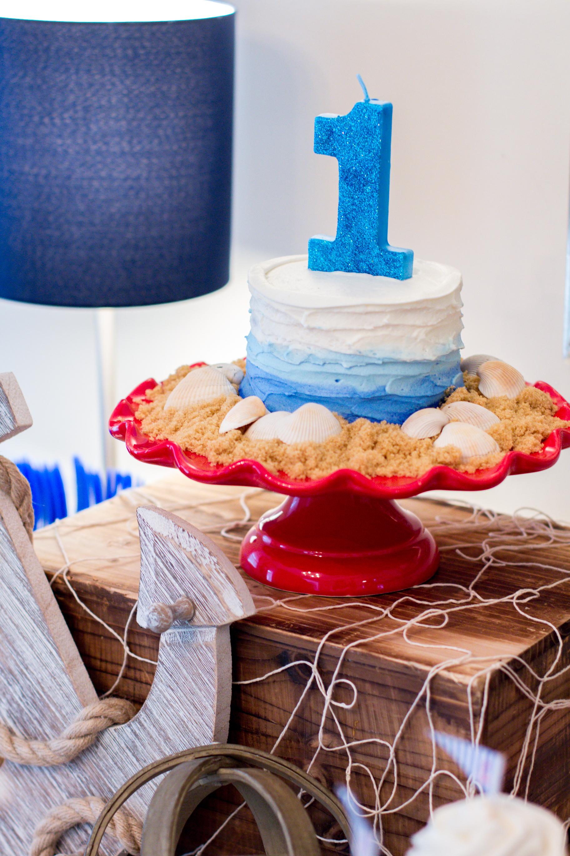 nautical-smash-cake