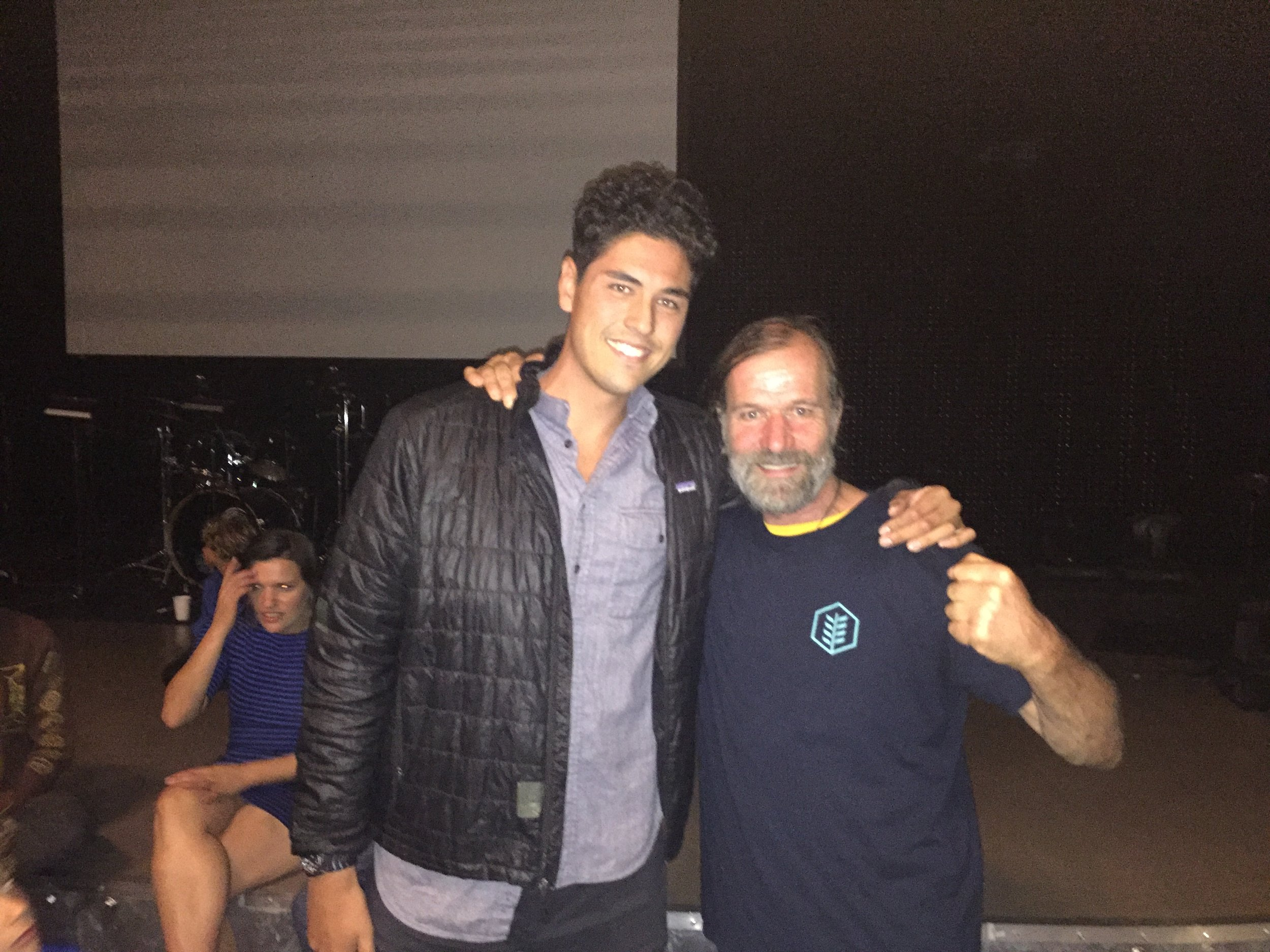 Founder, Jay Dee Morgan (left), traveled to San Francisco to attend the Wim Hof (right) workshop on October 23rd, 2016.