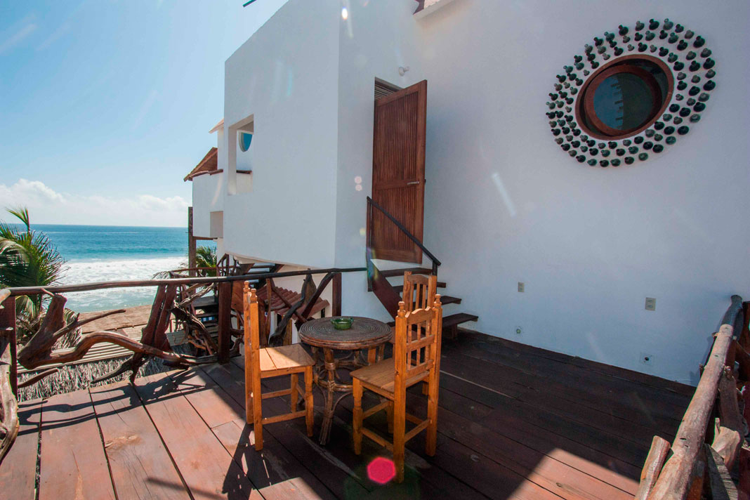 Relax on your private balcony of jump right in the ocean
