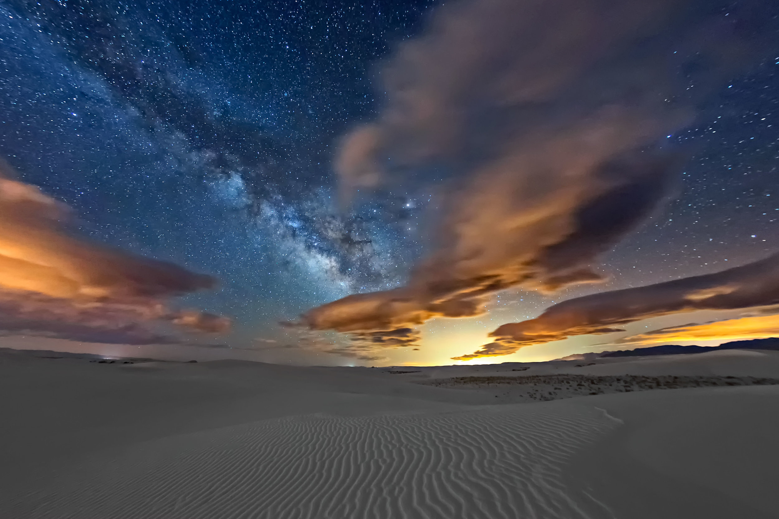 Las Cruces skyglow affecting White Sands, New Mexico