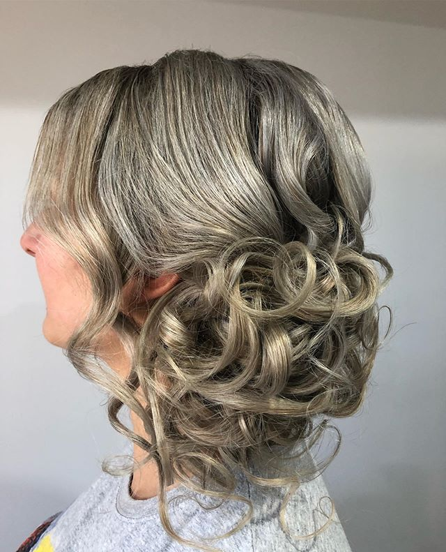 Danielle's engagement hair over the weekend  #hairupdostyle #softaroundtheface #blonde #hair #curls #ash #sidebuns #hairstyles #engaged #engagmentparty #bridetobe #wedding #bridalhairstyles #bridalhair
