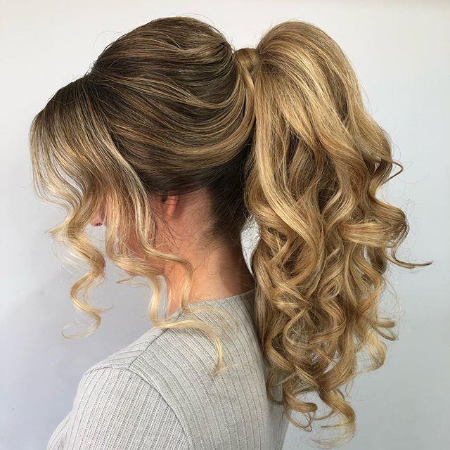Tiffany 💕 ready for her hens weekend! Can't wait to style her hair for her big day! Hair @nicolepacebridalhair  #hensparty #bridetobe #allherhair #wedding #bridalhair #ponytail #blondehair #curls #longhair #upstyles #lovemyjob