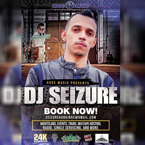 "We at Team Seizure want to hear from you, We want to know your insight as to what makes a good DJ in the Club and Music Scene.   Long Hours of training, ranging from learning the craft, to mixing and getting everything just right so that our listeners get to VIBE to music. The constant change up in Clubs, Private Events, Parties, Shows and Concerts.  DJ Seizure gives his all when is he on the job.  From Hosting, to Spinning, Event Planning, Hosting Mixtapes, this Three Diamond Award Winning DJ, who is also The Official DJ of Huge Music keeps on going and gives his best at all times.   For Booking Inquiries, Mixtape Hosting, Listening Sessions, We have the right Package For You.  Please hit us up at seizurebookings@gmail.com or djseizure@gmail.com. We Want To Hear From You.   My team works round the clock to ensure we always give our best.  DJ Seizure ""Talk Of The Town."""