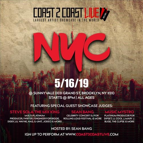 Tonight catch me live at the @coast2coastlive 🎤 #May Tour at @sunnyvalebrooklyn in #Brooklyn at 9 PM! Hosted by @seanbang | Sounds 🎶 by @djseizure • • • • #coast2coastlive #coolrunningdjs #tourlife #sunnyvale #djlife #roadhawgs #coast2coastsjs #tour #djseizure #newyork #newyorkcity #brooklyn #nyc  #hugemusiclife