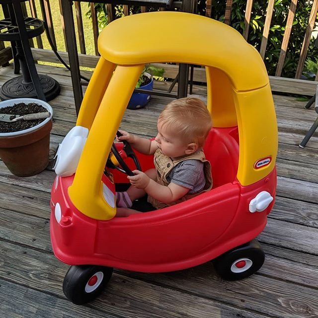 So thankful for Roman Blue! I seriously think he'd sleep in this car if we let him. He's a big fan of his new toy!