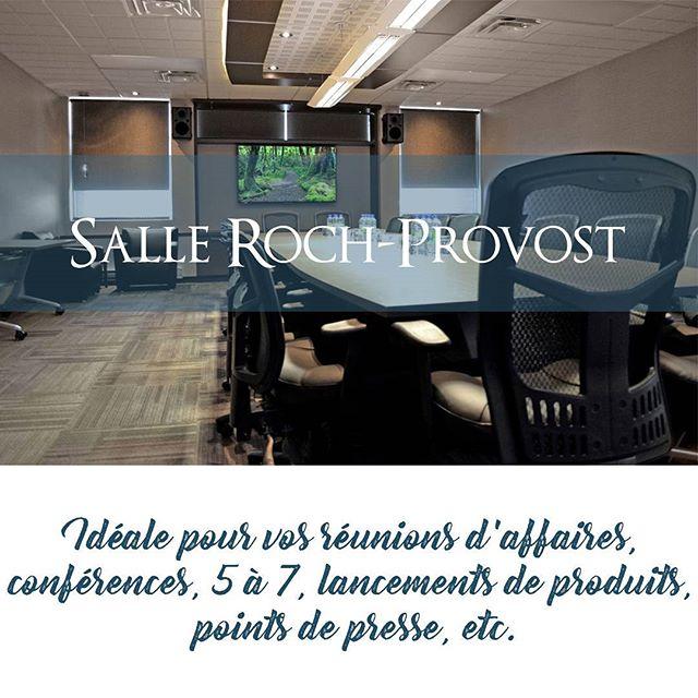 Pleinement équipée avec le meilleur de la technologie, la salle Roch-Provost est idéale pour vos réunions ! Psssst... En plus...le service de café est inclus dans la location! ☕ Essayer cette salle, c'est l'adopter !