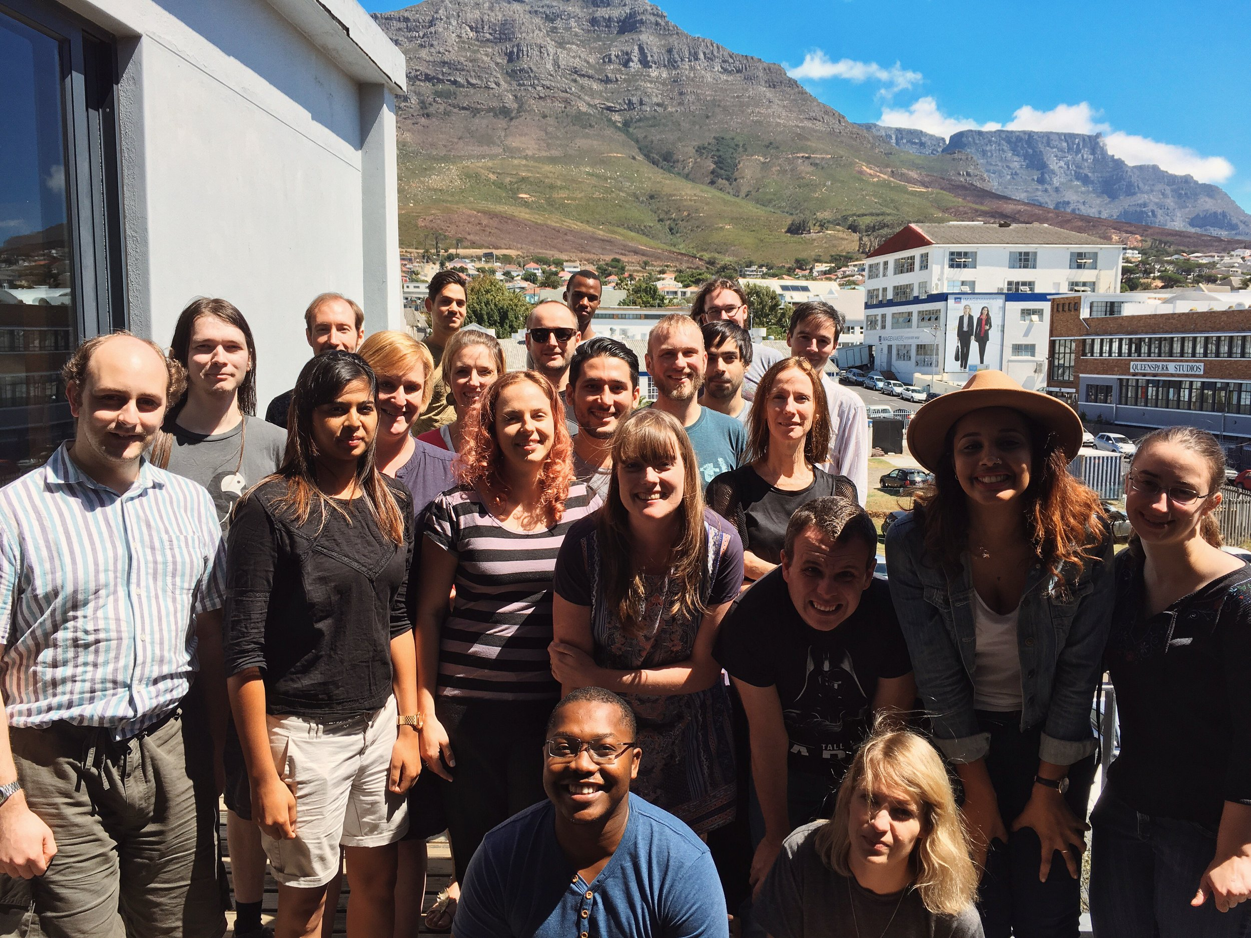 The Molo team in Cape Town with our good friends from  Torchbox
