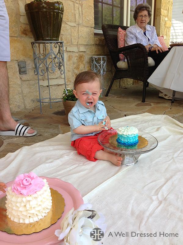Beckham smash cake