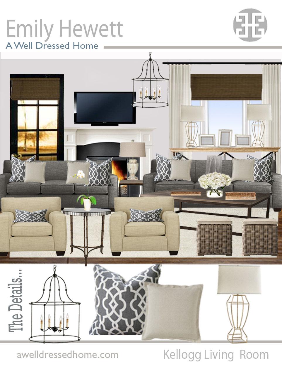 AWDH ODB Kellogg Living Room Online Design Board by AWDH