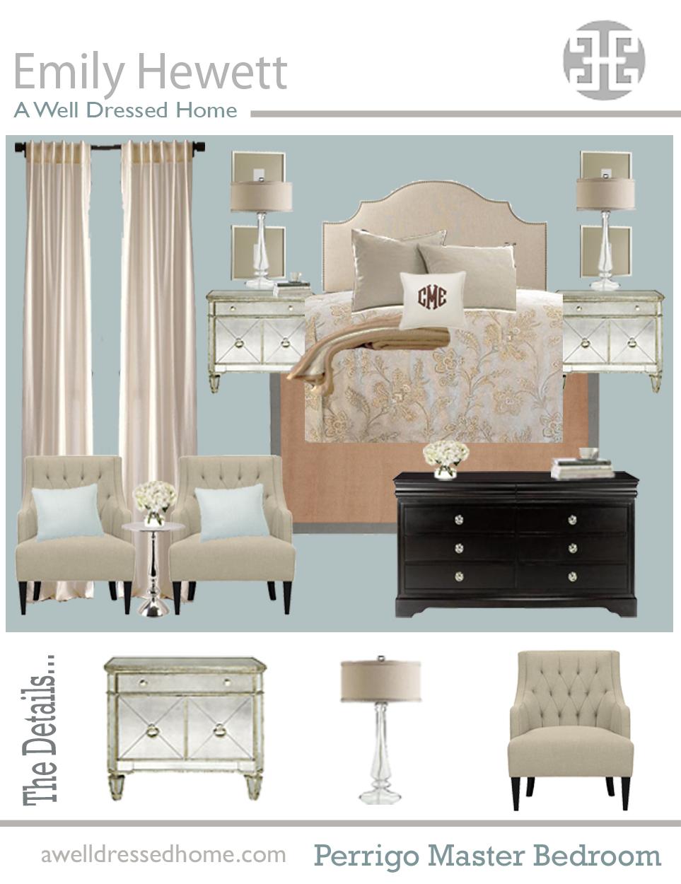 Perrigo Master Bedroom Design Board