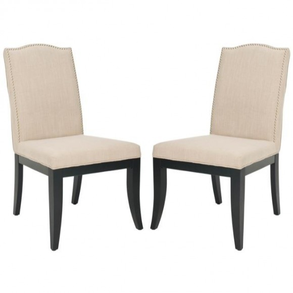 Laurent Sand Nailhead Side Chairs