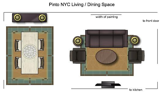 NYC Living Dining Floorplan