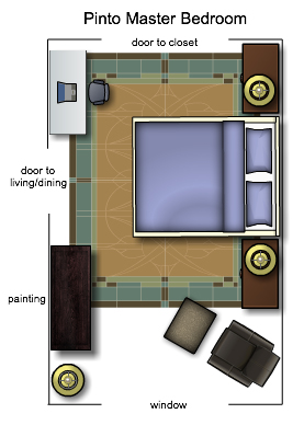 NYC Master Bedroom Floorplan