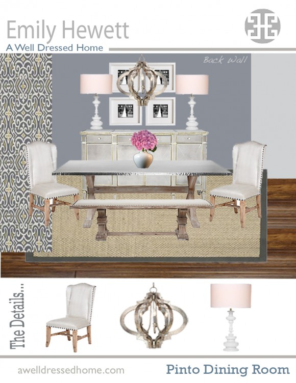 Pinto Dining Room Onine Design Board