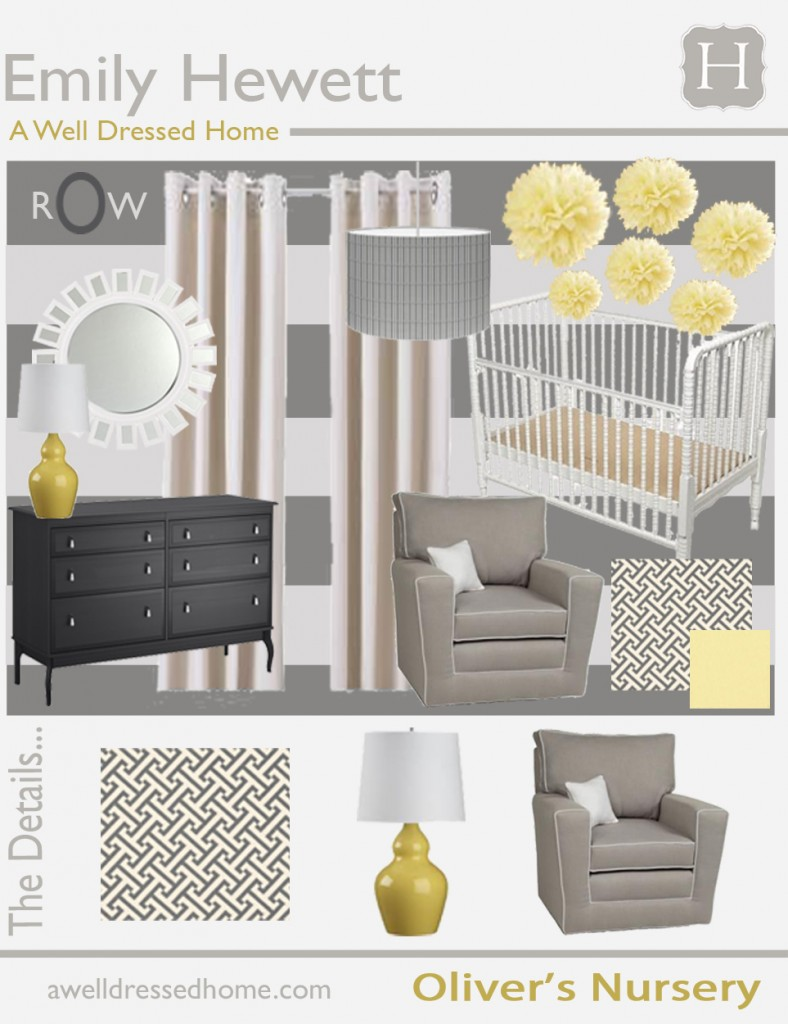 Oliver's Nursery Design Board A Well Dressed Home - Final