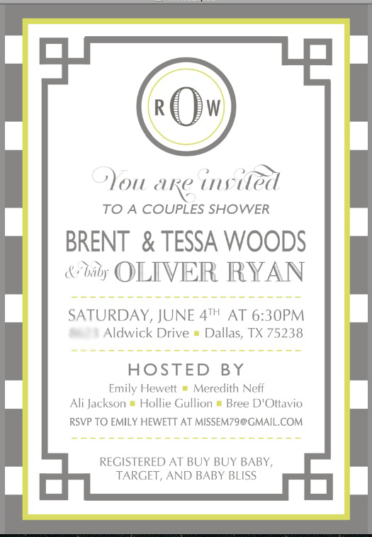 baby boy modern shower invite
