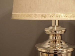 Lamp Shade with Greek Key Trim
