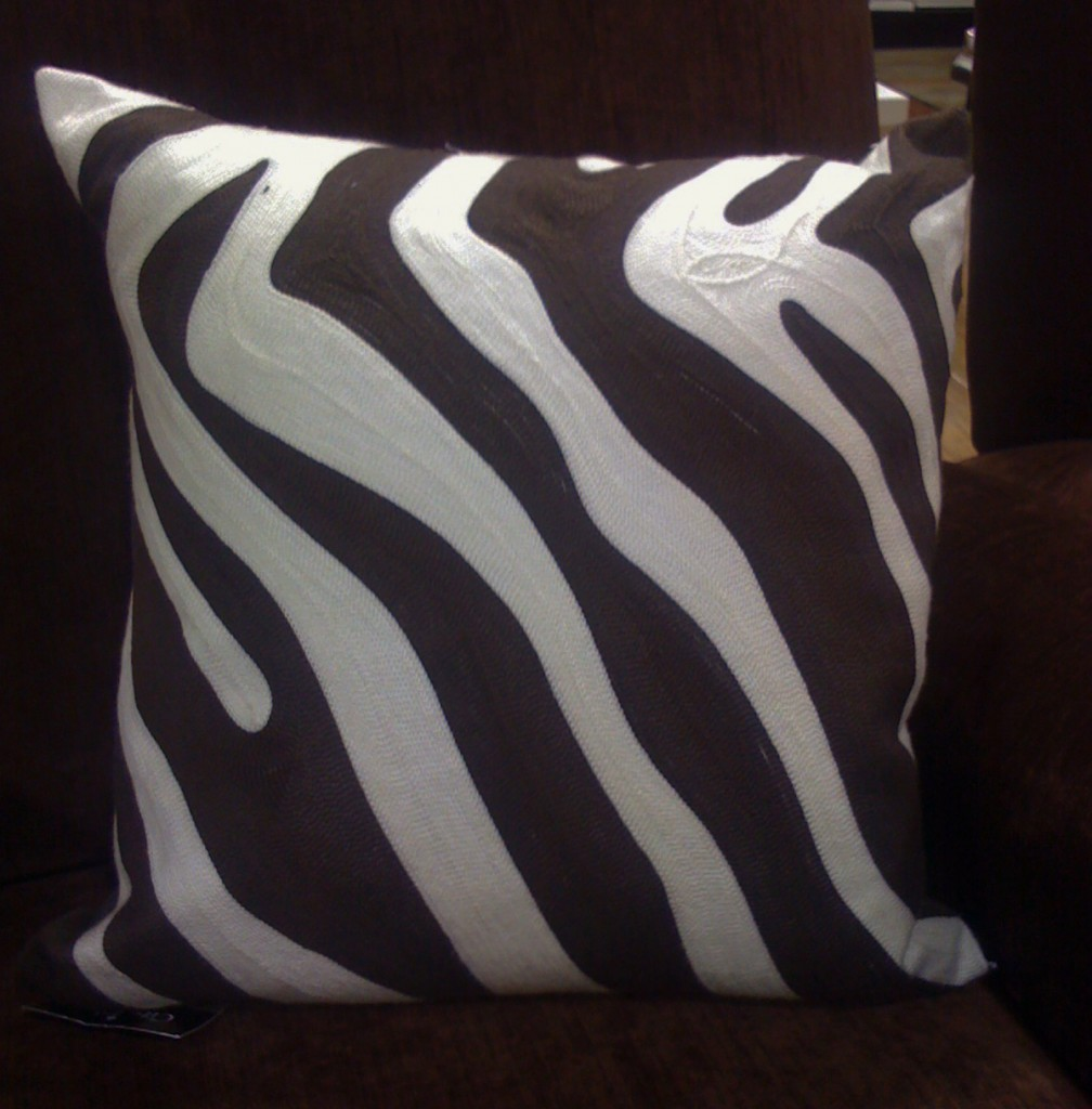 Frugal Find Zebra Pillow