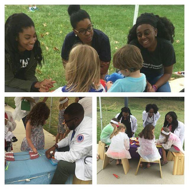 HUCM students giving back and volunteering at the Teddy Bear Clinic. #hucm2020 #medschool #hucm #community