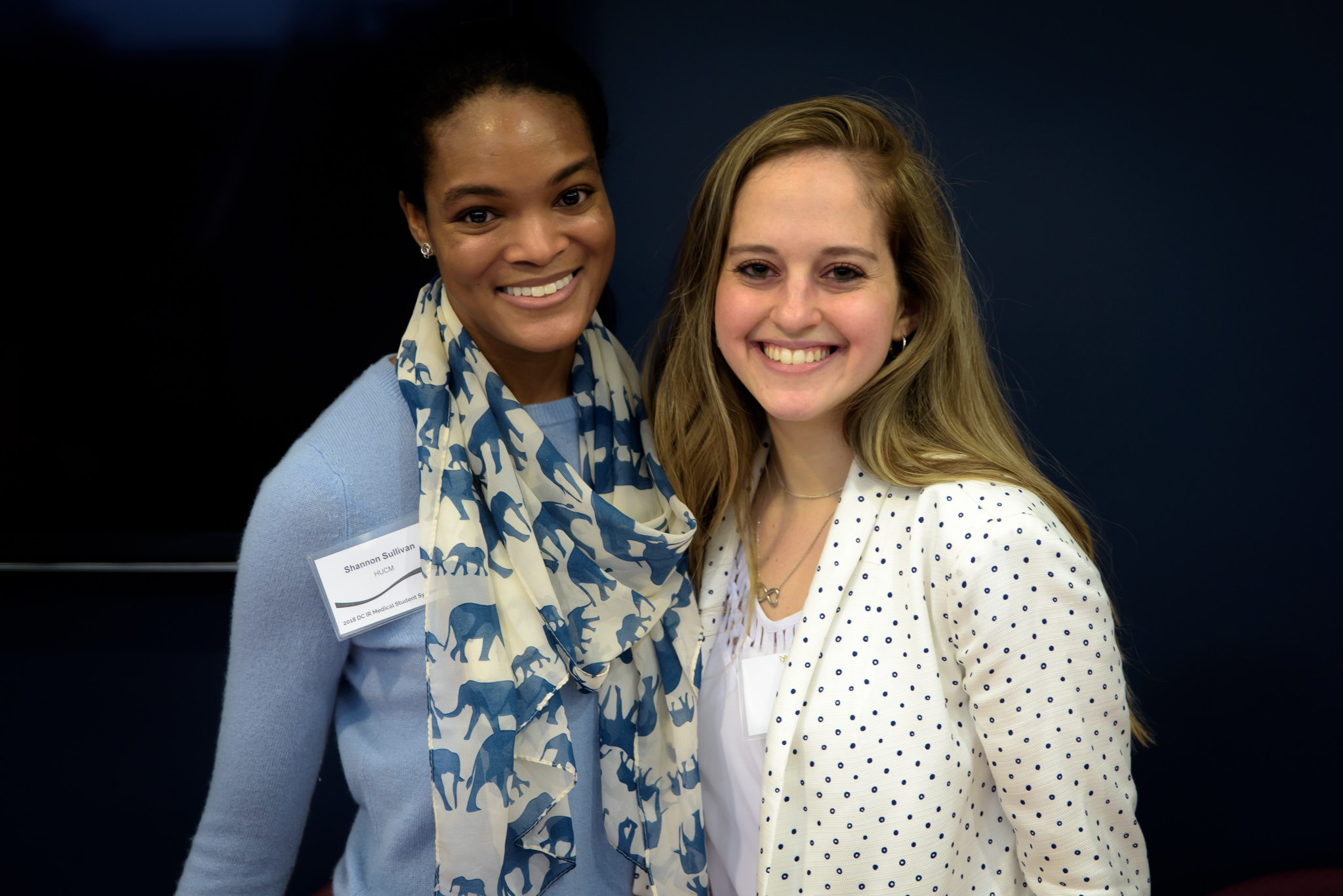 Symposium Planning Committee Members: Shannon Sullivan (left, HUCM) and Michal Ad (right, Georgetown)