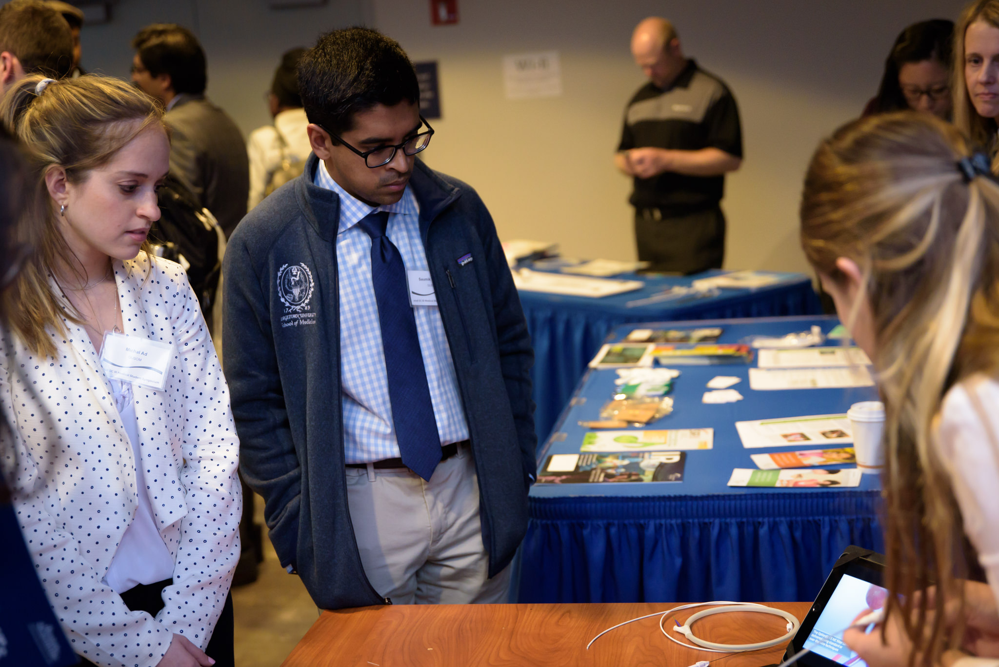 Symposium Planning Committee Members: Michal Ad (left, Georgetown) & Saumik Rahman (right, Georgetown)
