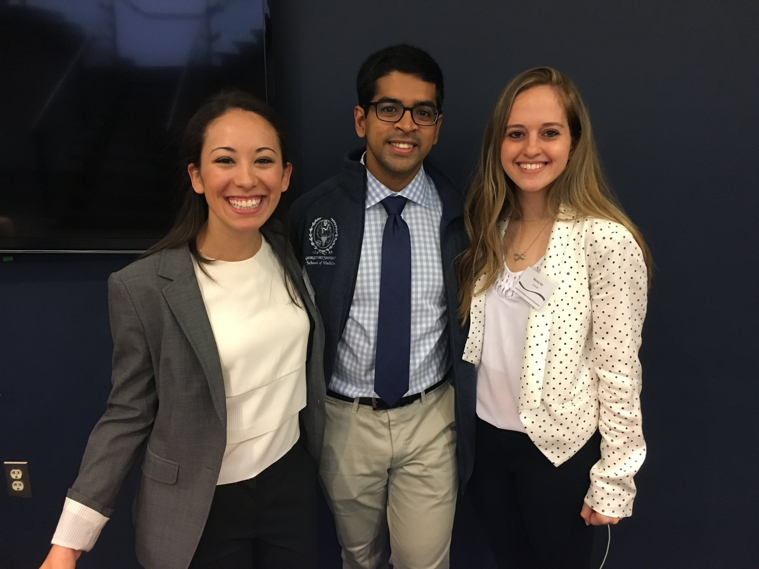 Symposium Planning Committee Members (left to right): Meredith Njus (Georgetown), Saumik Rahman (Georgetown), Michal Ad (Georgetown)