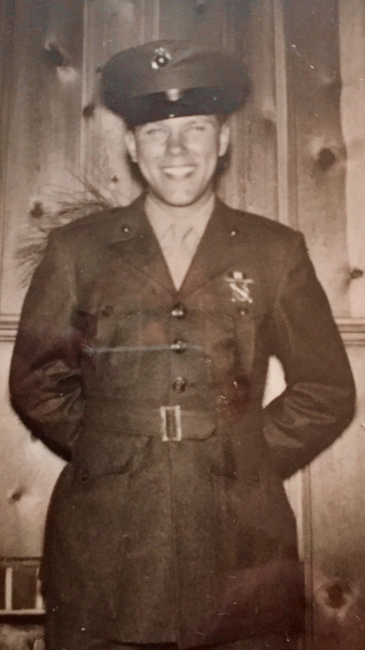 Here is David's brother in his Marine uniform.