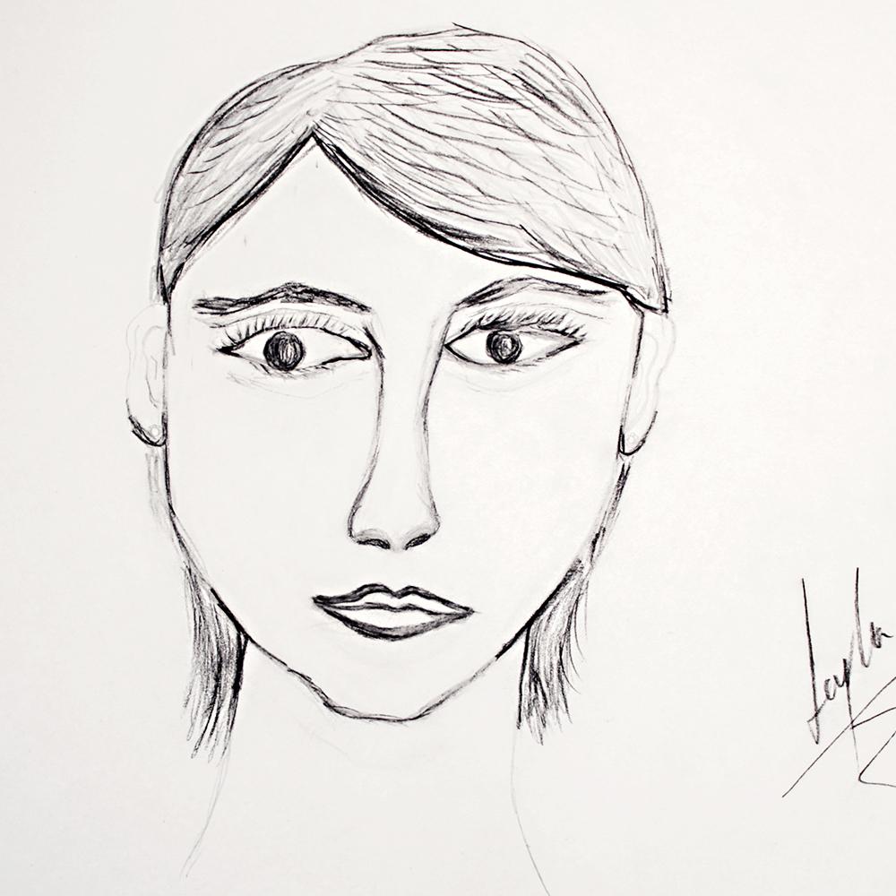 Autorretrato Leyla
