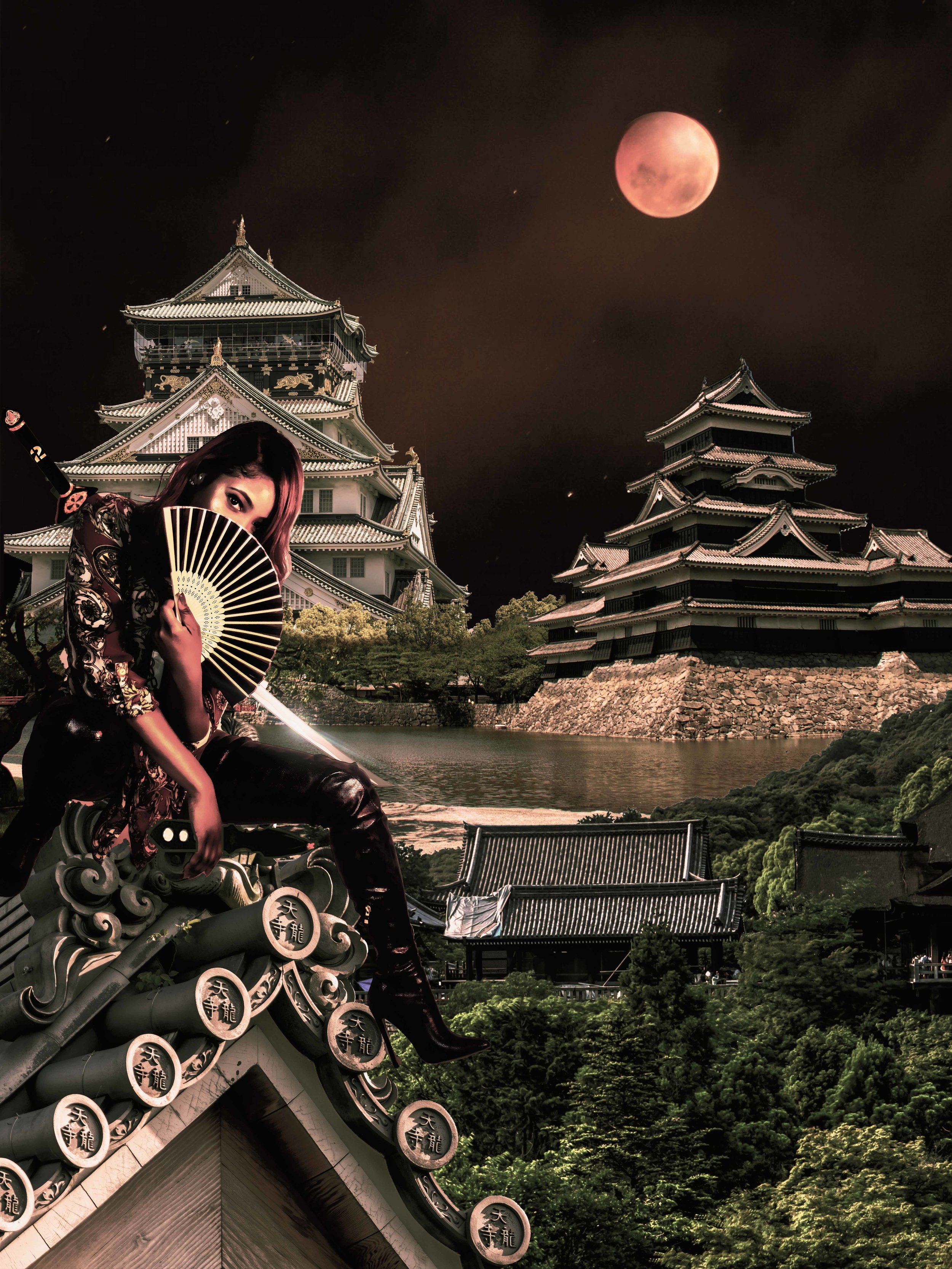 Blood Moon Assassin 🗡️🏯