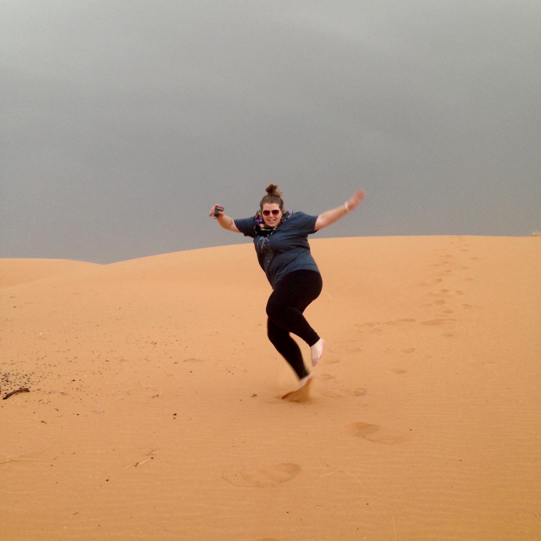 My friend Alyssa on the dunes