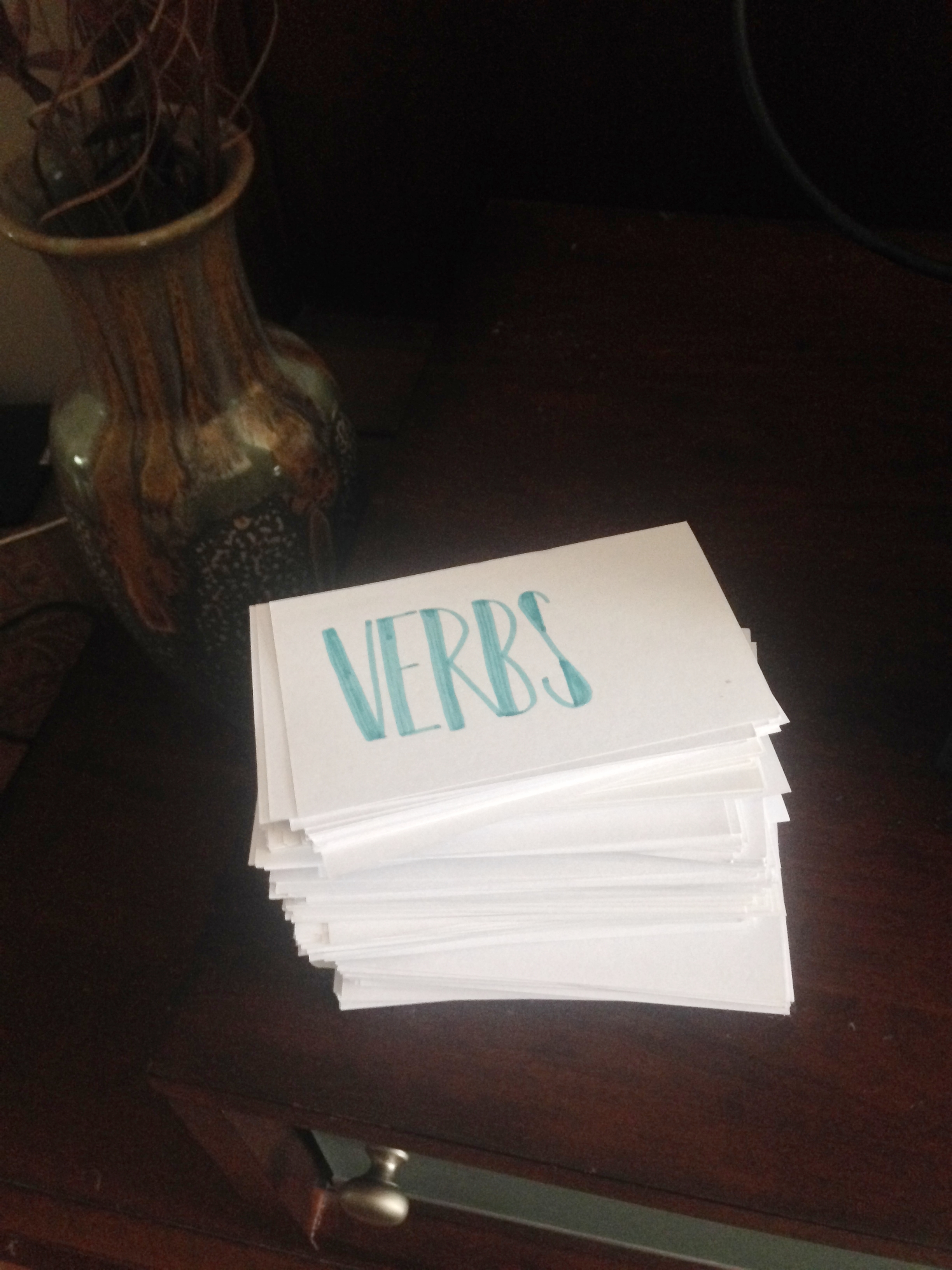 Just a few of my flashcards...