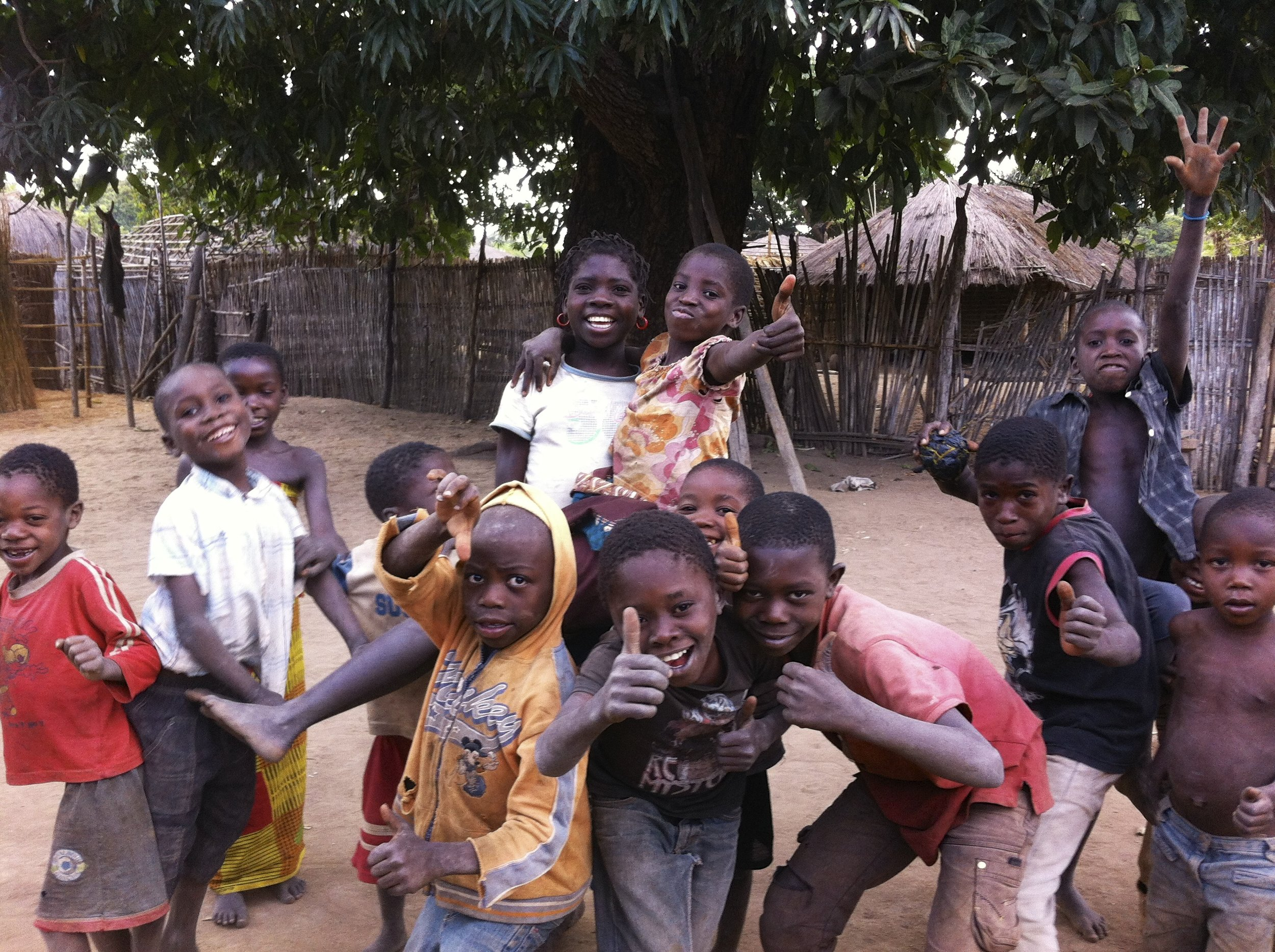 Some kids in Nkwonoma