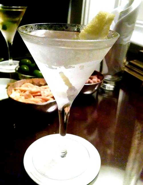 A martini at Duke's Bar
