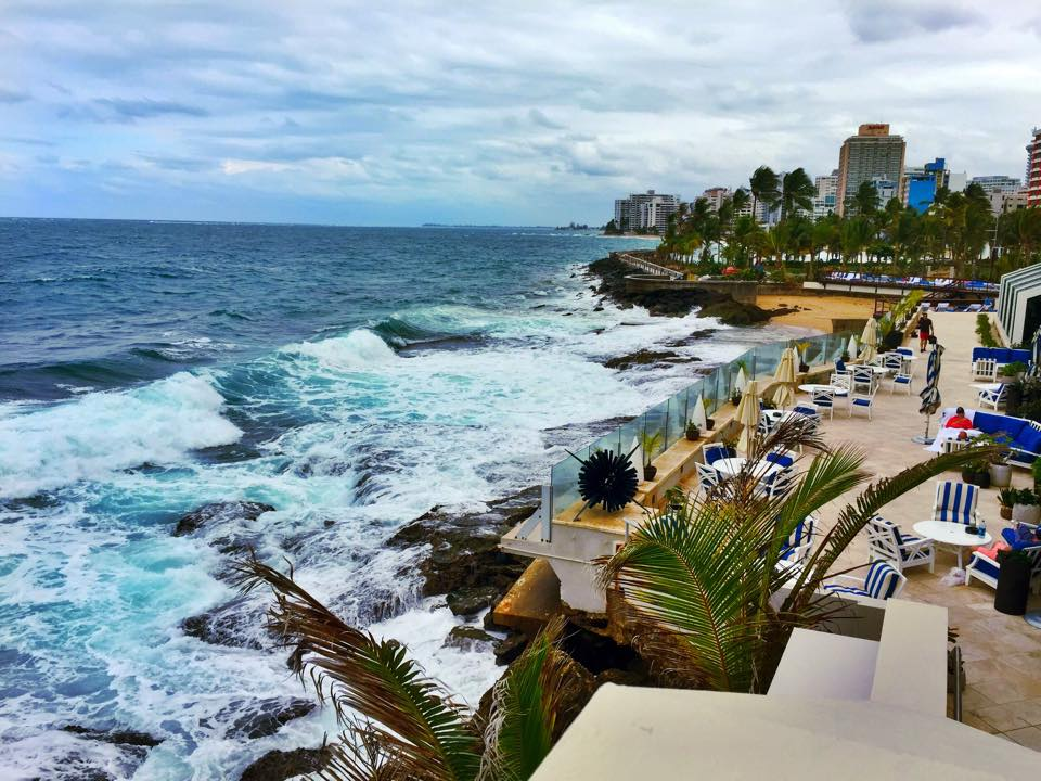 The terrace at the Condado Vanderbilt hotel